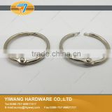 10years factory hot sale 1 Inch silver metal book ring