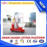 HJPT01-8 China distributor wanted single mast aluminum alloy lifter adjustable work platform