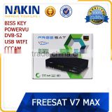 Original Freesat V7 max full hd dvb-s2 digital satellite receiver support Powervu cccam usb wifi