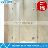 China Factory OEM Custom Bathroom 10mm Tempered Glass Hinge 3 Panel Shower Door With Stainless Steel Roller