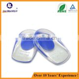 Moldable High quality Soft Silicone PU Gel Heel Cushion Half Pad Back Heel Support Insole Pressure Relief Cushion