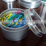 Colorful paper clip/Tin box within paper clips/Stationery Colorful paper clip/Tin box within paper clips small quantity order
