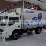 China manufacturer refrigerated freezer trailer low temperature refrigerated ice cream truck 6 wheels refrigerated insulated