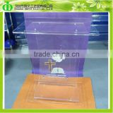 DDL-0008 Factory Produce Clear Glass Pulpit for Church, Pulpit for Churches, Church Pulpit
