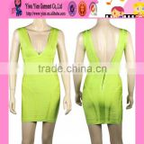 professional factory selling sexy bandage dress backless short cheaper ladies bodycon bandage dress