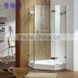 Customized Tempered Glass Withstand High Temperature Shower Enclosure/Glass Panel Design With Acrylic Base Shower Room