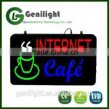 Internet OPEN Cafe Shop Bar LED Light Sign