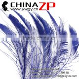 Top Selling ZPDECOR Factory Bulk Sale Cheap Dyed Royal Blue Peacock Sword Feathers
