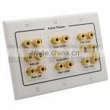 Home Theater 8.2 Surround Sound Speaker Banana Wall Plate