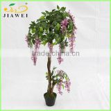 indoor home decorative artificial wisteria trees natrual wood trunk