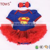 Baby christmas clothes Romper Tutu Dress Cotton Cartoon Superman Toddler Festival Costumes For Newborns Infant clothing