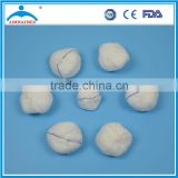 Wound dressing Disposable 100% cotton absorbent gauze ball with detectable X-ray threads