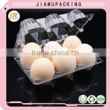 plastic egg box packaging for six cavities, egg tray for six cells, egg cartons for sale
