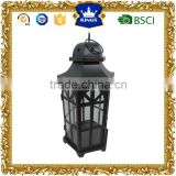 Large black moroccan metal candle lanterns Home garden decoration