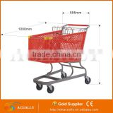 iron supermarket basket with wheels grocery basket grocery carts for sale wire shopping baskets