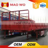 Chinese factory tri-axle side wall semi trailer for army trucks