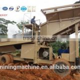 Alluvial gold wash plant with trommel,vibrating sluice,shaking table With Patent For Sale
