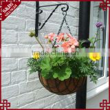 Decorative wall hanging half round planters hanging basket with metal chain