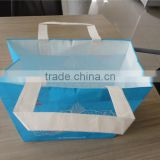 free sample warp and weft paper material new design custom cheap recycel ribbon handle snack raw materials of paper bag