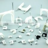 High quality cable clip/plastic wall cable clip/plastic nail hook cable clip