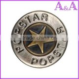 Wholesale custom zinc alloy metal botton jeans button for lady jeans