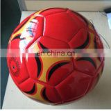 SAR gift beach ball Laser leather hot red wholesale football soccer ball