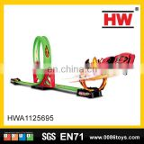 Hot selling pull back car plastic toy race track