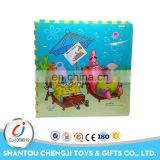 Top selling EVA interlocking cartoon animals tatami puzzle mat for kids
