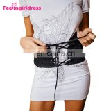 Wholesale Fashion Women Black Knitting Elastic Wide Waist Belt Waist Support Belt