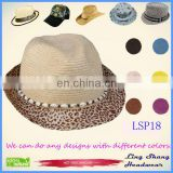 LSP18 Ningbo Lingshang Hot Sale Popular Shell Decoration Women 100% Paper Straw stylish bucket hats