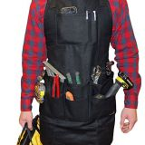 heavy duty waxed canvas work shop tool apron with 11 pockets