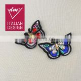 2017 Hot Sale beaded patches rhinestone butterfly applique