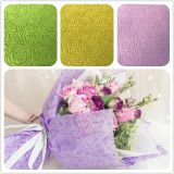 2018 New embossed Rose pattern flower wrapping & gift packing fabric 100% PP spunbond Polypropylene for gift table cloth
