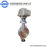 Motorized high performance wafer SS304 butterfly valve DN100 D972H-16P