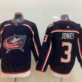 Columbus Blue Jackets #3 Jones Blue Jersey