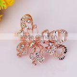 2015 new model FMYJ017 fashion metal Hollow butterfly hair barrette clip wholesale