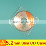 5mm slim clear PS cd dvd case