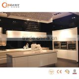 American style classic wooded kitchen cabinets from china,pvc coated kitchen cabinet