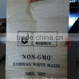 transparent pp bag bean sack PP woven vegetable seed bag soybean bag 50kg recycled bag for bean