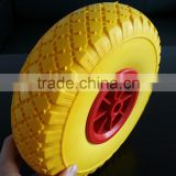 10 inch wheelbarrow pu foam wheel 3.00-4 with plastic rim