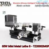 Powerful 60w motor Electroplated Mini Metal Lathe B for DIY model making,soft metal processing