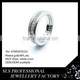 2015 Popular different design in 925 silver rhodium plated AA white CZ rings for wedding