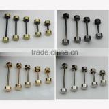 ZINC ALLOY Silver Plated Purse Dumbbell Screw, Barbell Screw, Studs, Bags Screw, Cap Screw, Replacement Screw