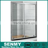 foshan factory cheap double sliding shower door plastic bathroom corner shelves