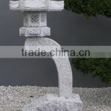New Japanese Outdoor Stone Finish Pagoda Lantern