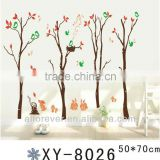 birds singing in trees wall sticker