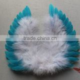 Dye Blue Baby Goose Feather Angel Wings For Sale Parties Party Supplies