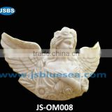 Handicraft of white marble angel sculpture