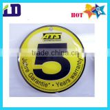 Circle shape full color number printing epoxy dome sticker