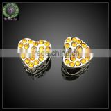 Wholesale Jewelry Fashion Metal Spacers Bead ,Gold Heart Shaped hollow ball spacer metal beads for jewelry
